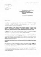 Cliquez sur l'image pour télécharger en PDF le courrier par lequel Véronique Miquelly demandait à Danièle Garcia de ne pas voter cette explosion de la fiscalité de nos petites entreprises
