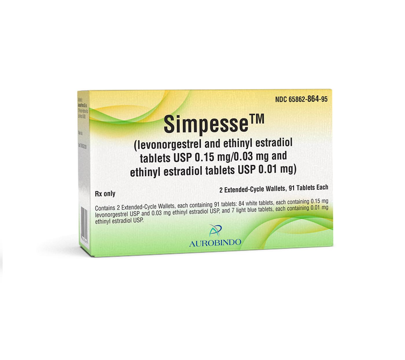 Simpesse™ (Levonorgestrel & Ethinyl Estradiol Tabs) 0.15 ...