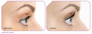 Aurora Skin Clinics: Photo showing Before and After LVL Lashes