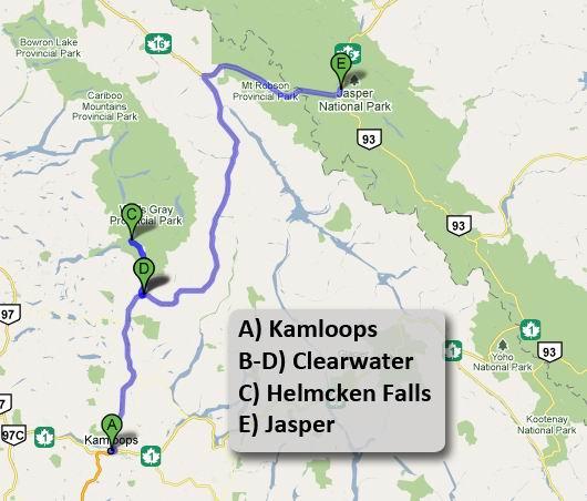 Da Kamloops a Jasper