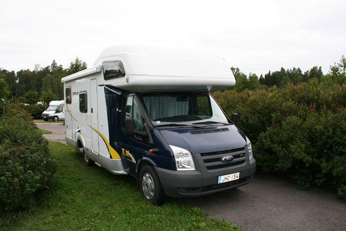 Il nostro camper parcheggiato al Rastila Camping