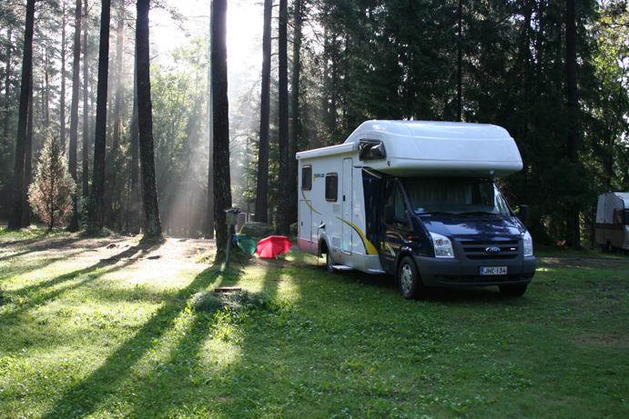 Il risveglio al Solliden Camping