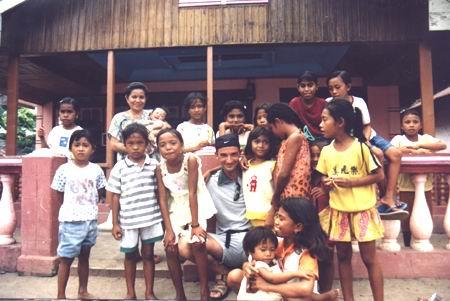 Uno dei villaggi di Gangga Island