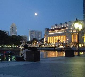 Boat Quai e il North Bridge sul Singapore River