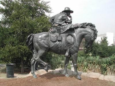 Statua del cowboy