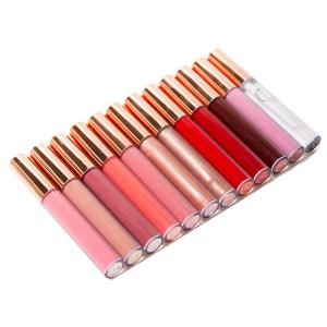 lip gloss rose gold tube