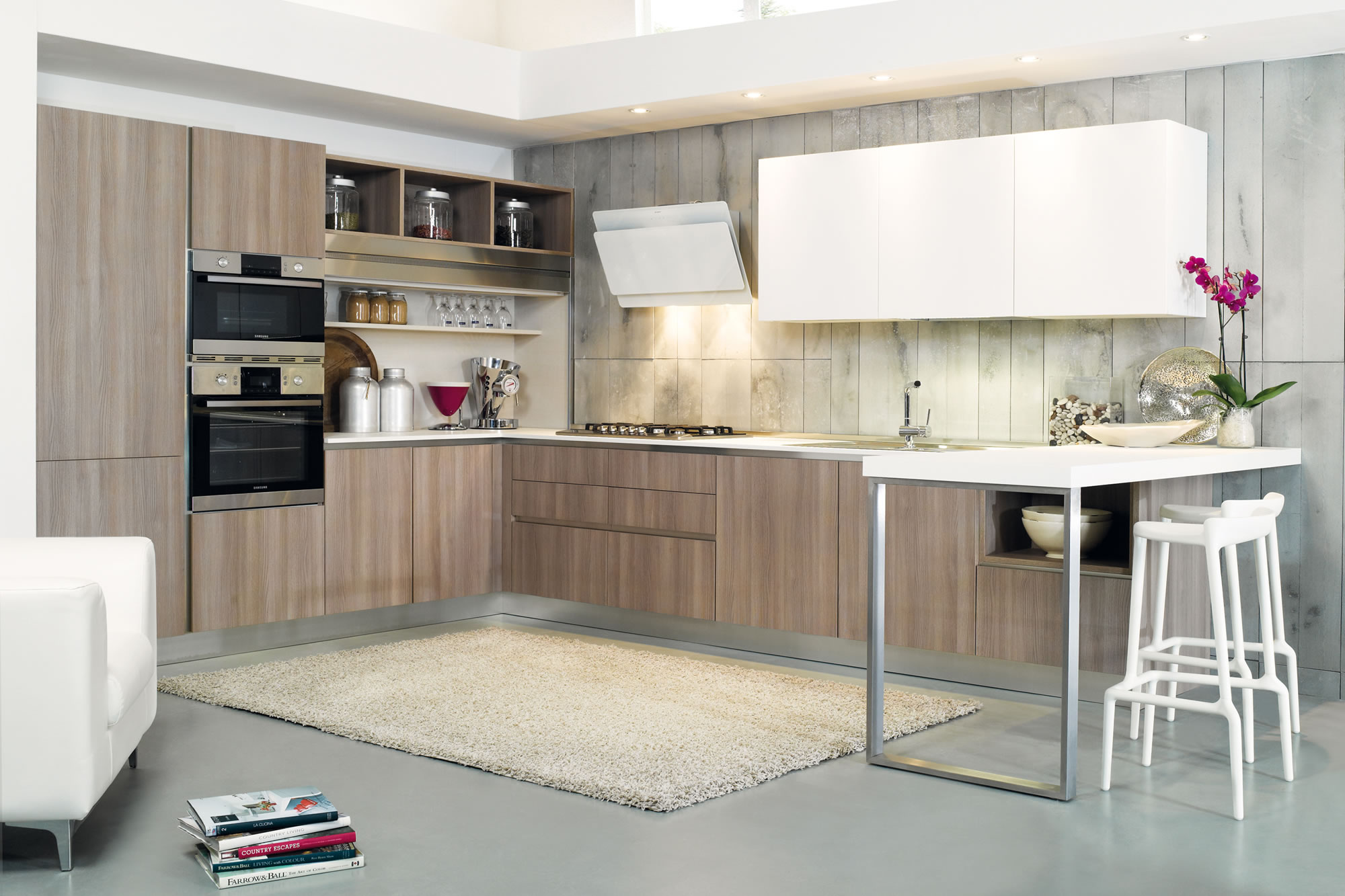 Cucine design contemporaneo laminato colorate Siena Poggibonsi
