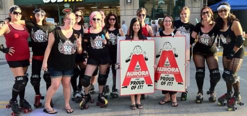 The Aurora 88s roller derby team