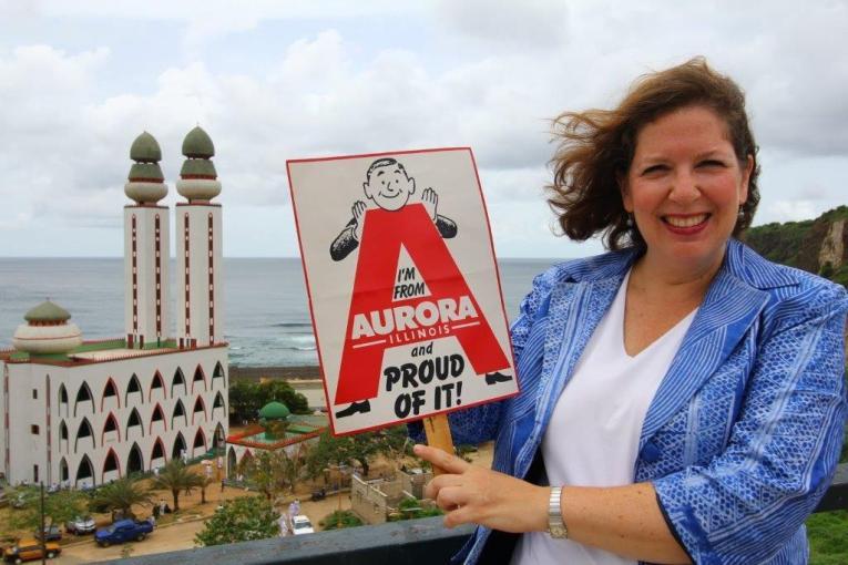 Andy in Dakar, Senegal with Auroran Kristine Marsh