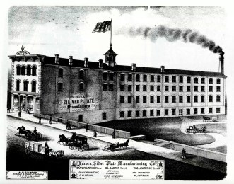 1872 rendering of the Silver Plate factory