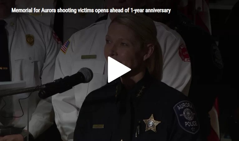 WGN 9: Memorial for Aurora shooting victims opens ahead of 1-year anniversary