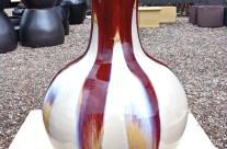 Modern Splayed Potbelly Vase