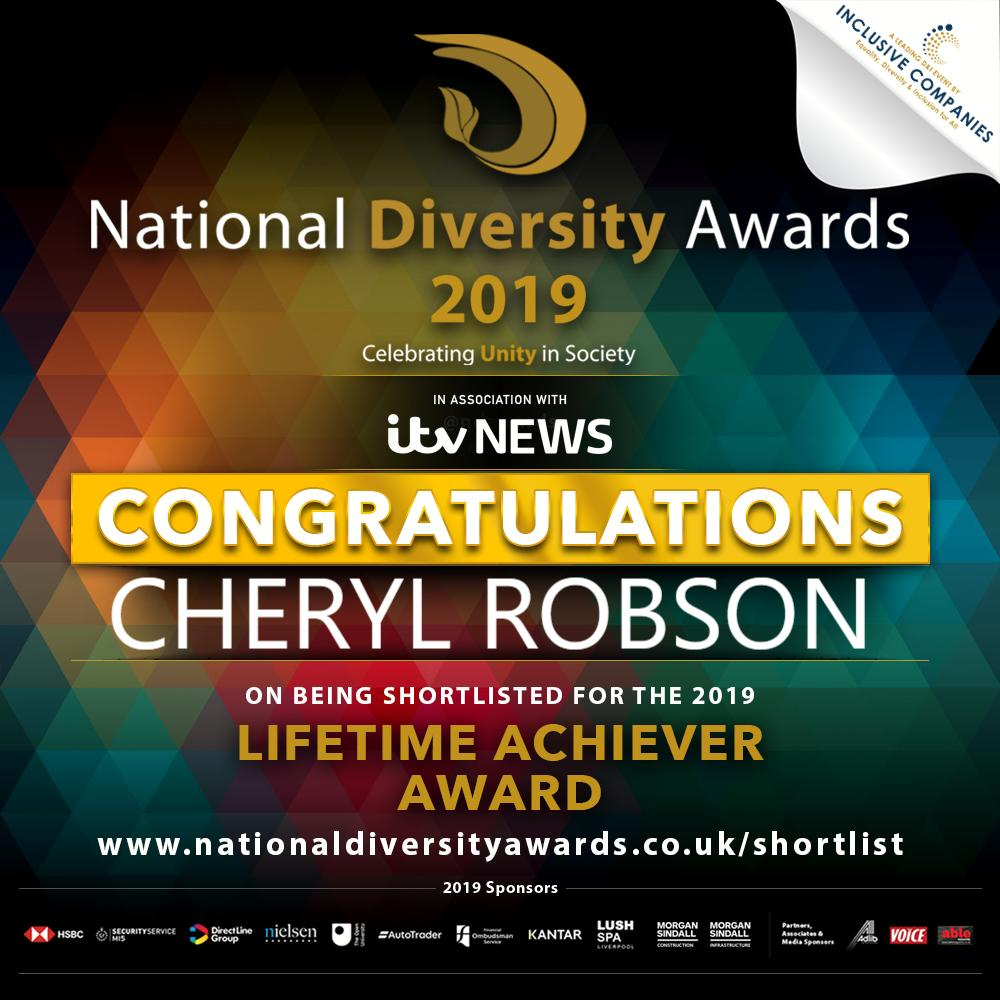 Our Founder, Cheryl Robson, shortlisted for National Diversity Award