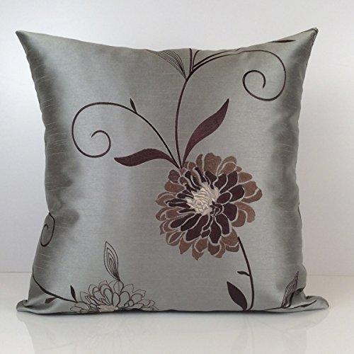 Gray Till Tan and Brown Pillow Throw Pillow Cover