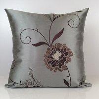 Gray Till, Tan and Brown Pillow, Throw Pillow Cover ...