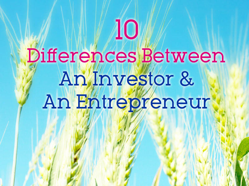 10 Differences Between An Investor and An Entrepreneur
