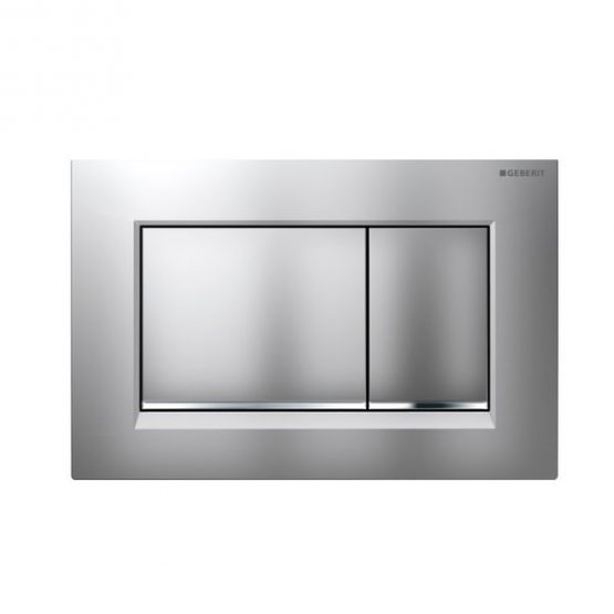 Geberit Sigma30 Matt Chrome with Bright Chrome 600 x 600