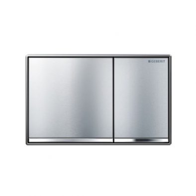 Geberit Sigma60 Brushed Chrome 600 x 600
