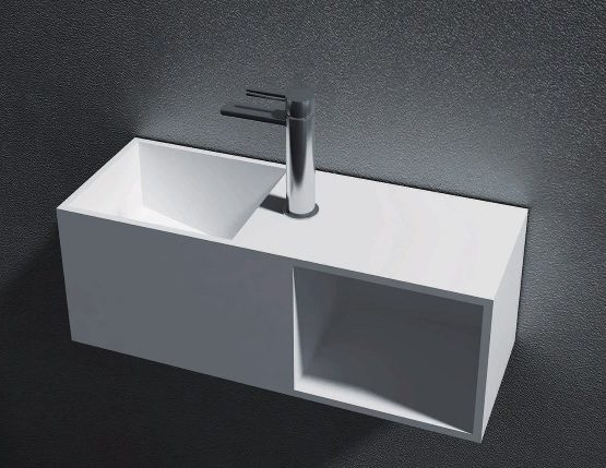 PB wall hung basin 600 x 429