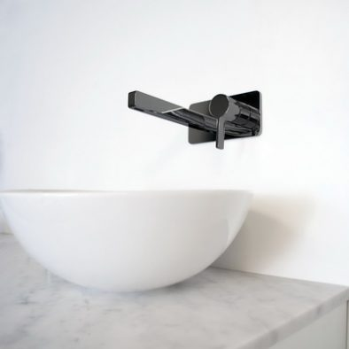 Jamie.J Martini Ritz Wall Basin Set Black Sapphire 402x600