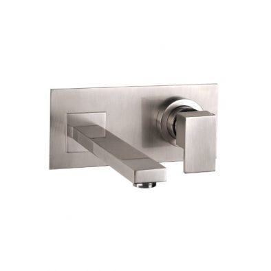 Gessi Rettangolo Wall Basin Mixer with Spout 600x600