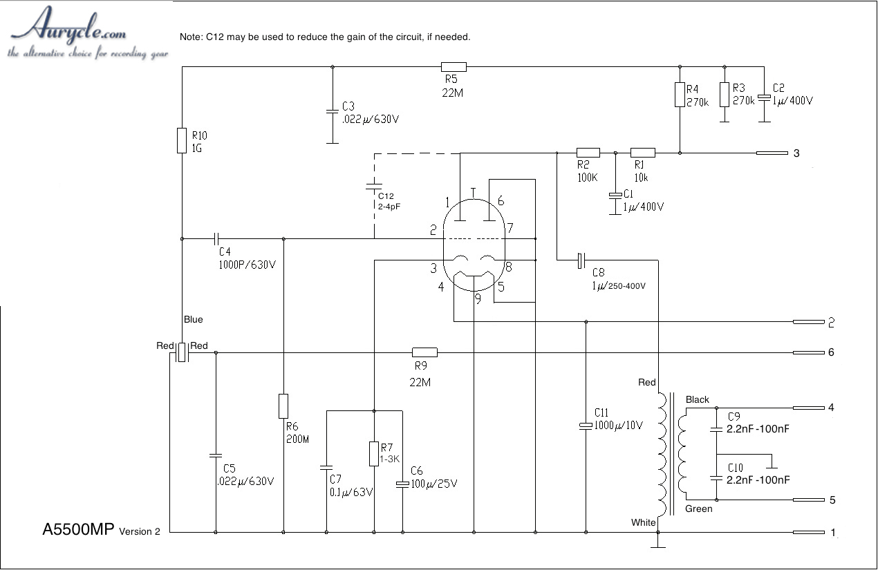 hight resolution of diy vacuum tube condenser microphone kit tube mic wiring diagram