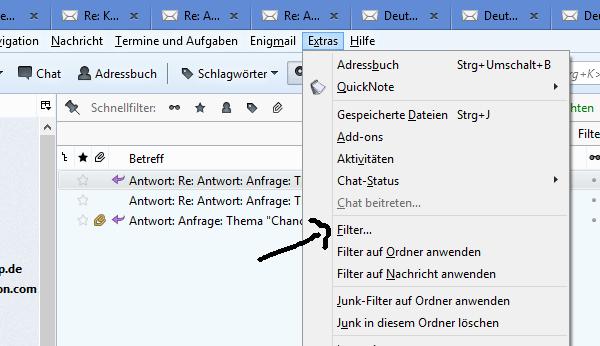 Die Filterfunktion bei Thunderbird – endlich Ordnung im Email-Programm