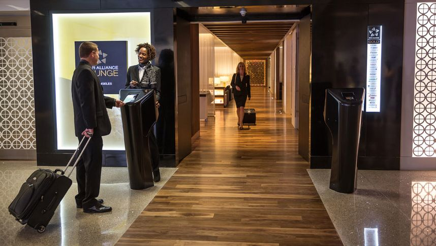 Air New Zealand's Star Alliance lounge atLAX hints at what's to come for its Auckland and Sydney Koru Club lounges.