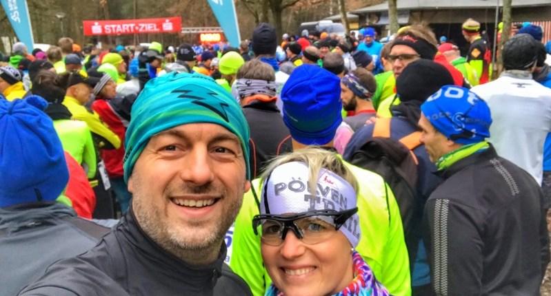 Ultramarathon Rodgau 50k - Pre-Startfoto Hannah und Carsten