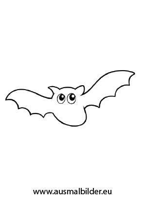 Fledermaus Halloween ausdrucken