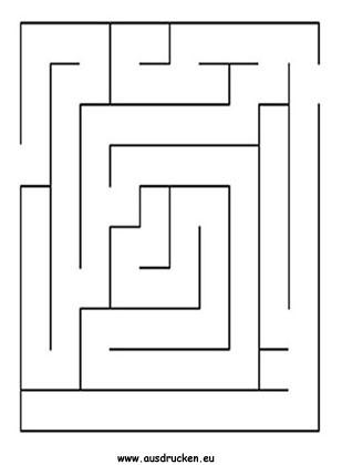 Einfaches Labyrinth ausdrucken