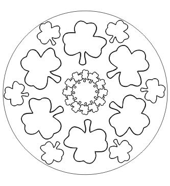 Kleeblatt Mandala Mandala ausdrucken