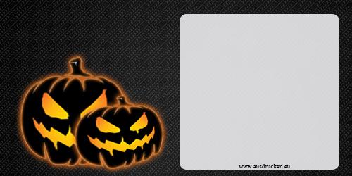 Ausmalbilder und malvorlagen kürbisse für kinder. Halloween Karten mit Kürbis erstellen und ausdrucken
