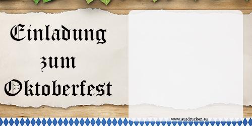 Einladungen zur Wiesn  Einladungen Oktoberfest Ausdrucken von Vorlagen