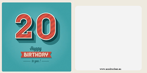 Geburtstagskarten mit Zahlen kostenlos ausdrucken