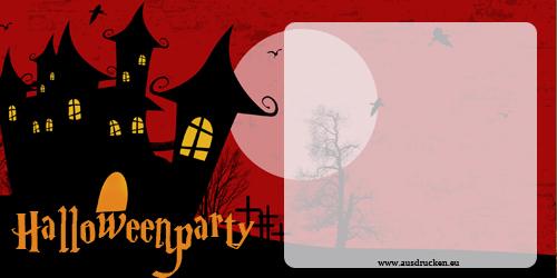 Einladungskarten fr Halloween gestalten und ausdrucken