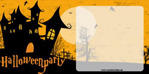 Halloween Karten Einladungen  Halloween Einladungen