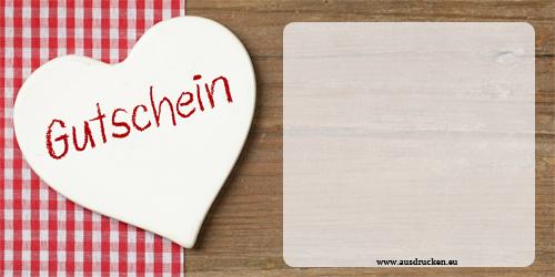 Valentinstag Gutschein ausdrucken