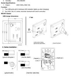 white australian dual power point gpo wall plate with 2a usb socket charger [ 792 x 1129 Pixel ]