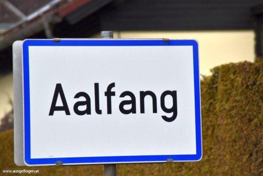 Aalfang in Niederösterreich - Ortstafel Tier