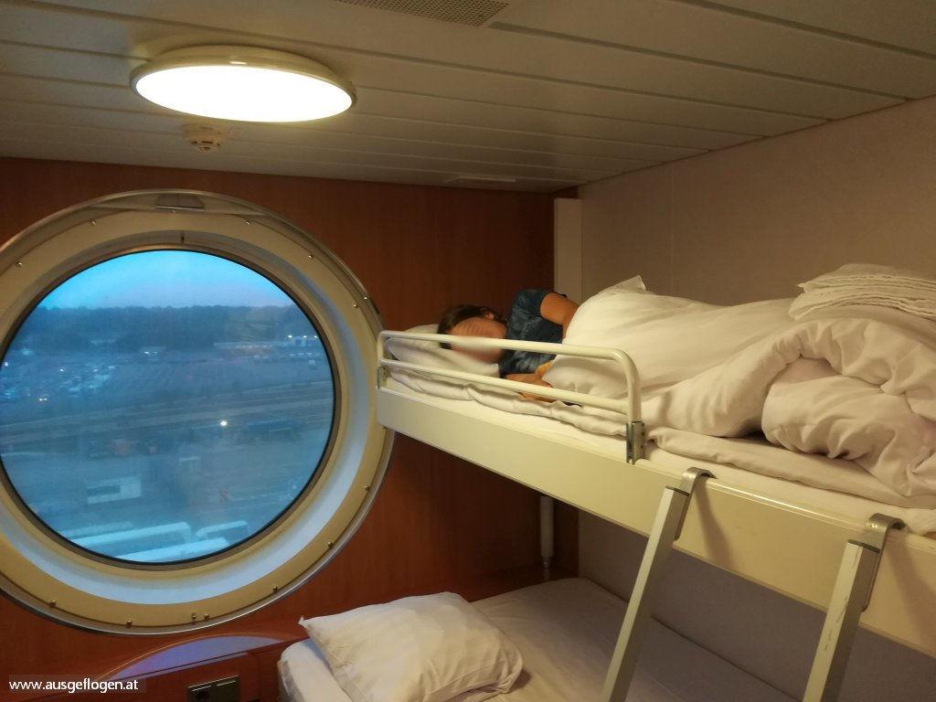 Überanachtung Stena Line Rail Sail Harwich Hoek van Holland Kabine Urlaubsideen Kinder