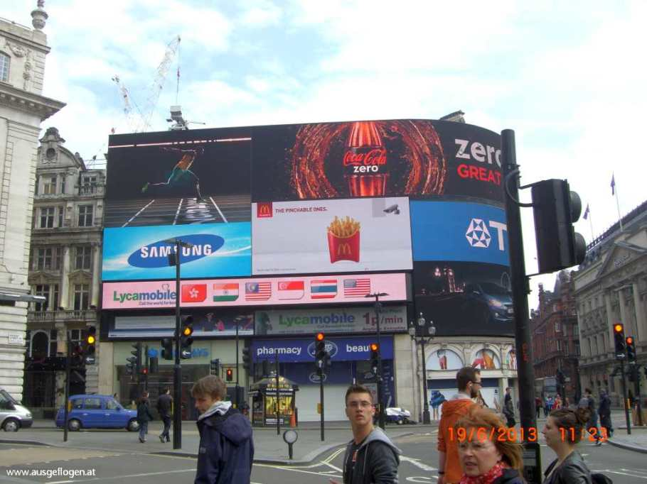 London mit Kindern Piccadilly Circus