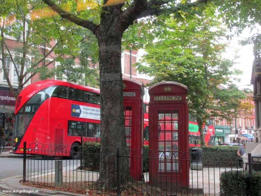 London mit Kindern rote Telefonzellen