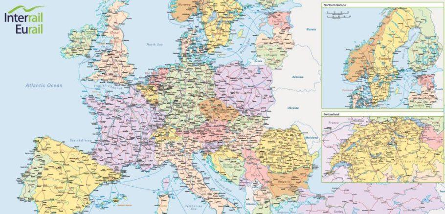 Zugverbindungen Europa