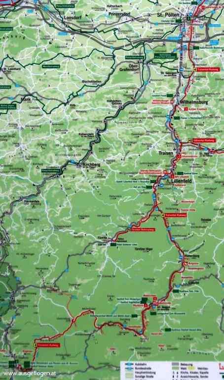 Traisentalradweg Karte
