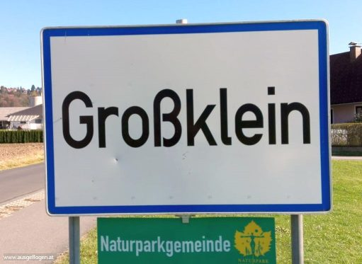 lustige Ortsschilder Österreich Großklein Leibnitz
