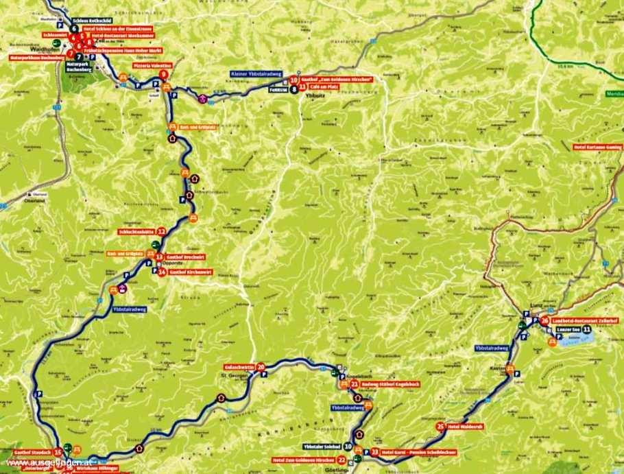 Ybbstalradweg Karte
