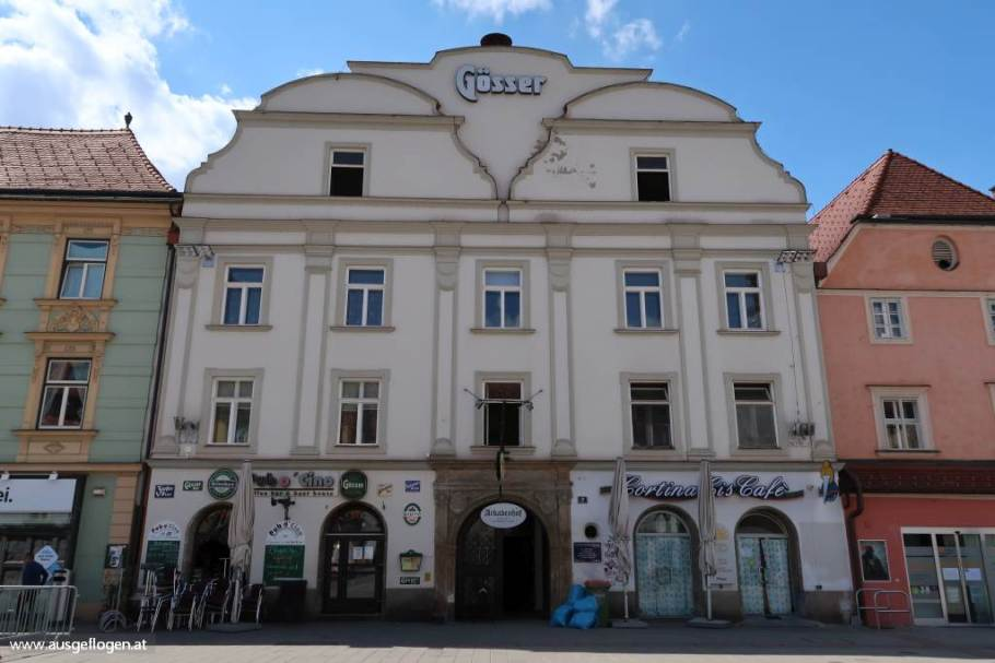 Leoben Hauptplatz steirische Eisenstraße