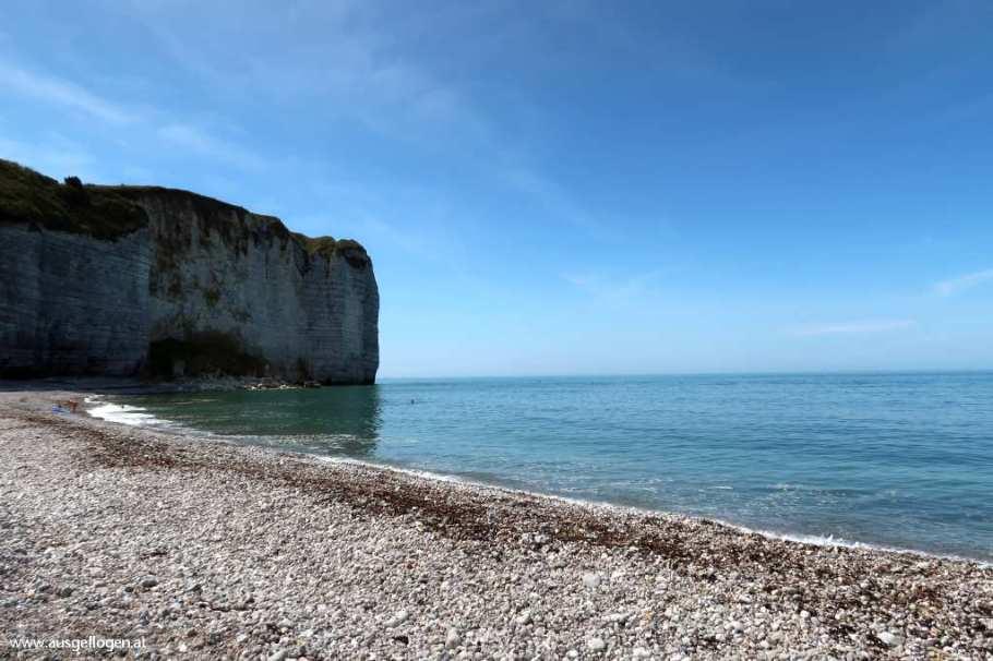 Alabasterküste Normandie einsame Bucht Plage de Vaucottes