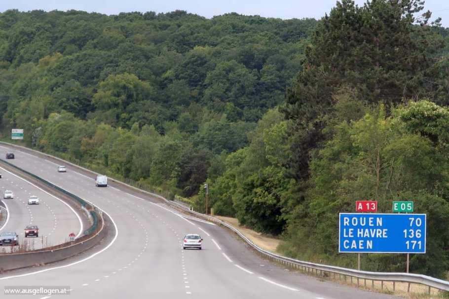 Autofahren Frankreich Normandie